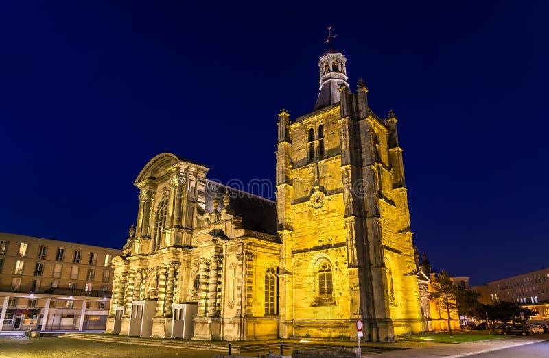 Kathedraal Notre Dame van Le Havre in Frankrijk stock afbeelding