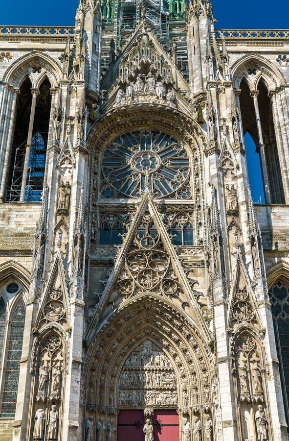 Kathedraal Notre Dame van Rouen in Frankrijk stock foto's