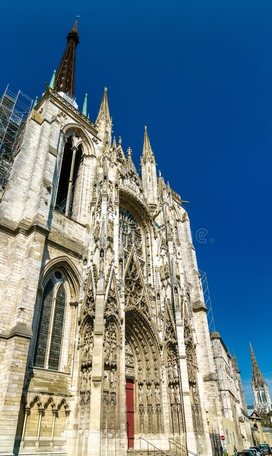 Kathedraal Notre Dame van Rouen in Frankrijk royalty-vrije stock fotografie