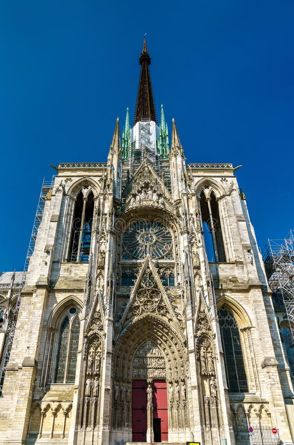 Kathedraal Notre Dame van Rouen in Frankrijk royalty-vrije stock afbeeldingen