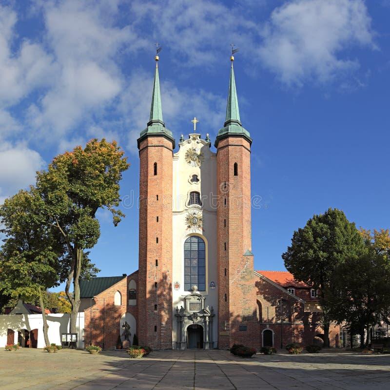 Kathedraal In Oliwa Stock Foto's