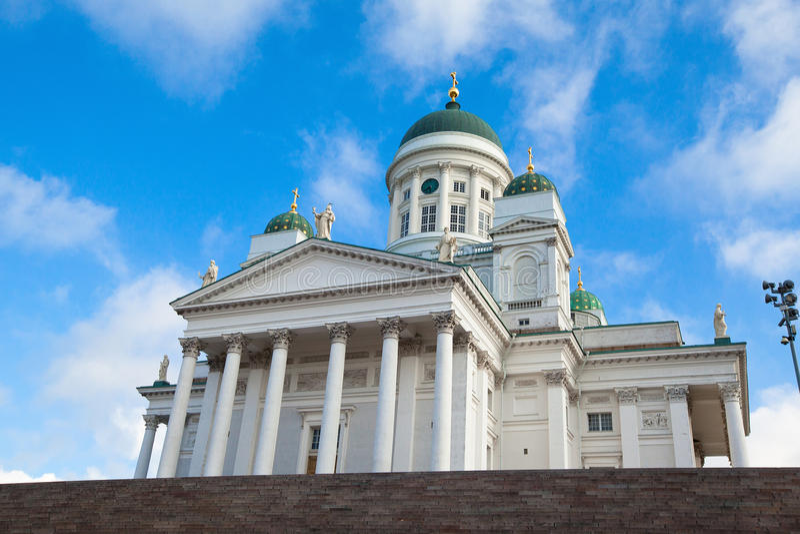 Kathedraal op het Vierkant van de Senaat in Helsinki royalty-vrije stock fotografie