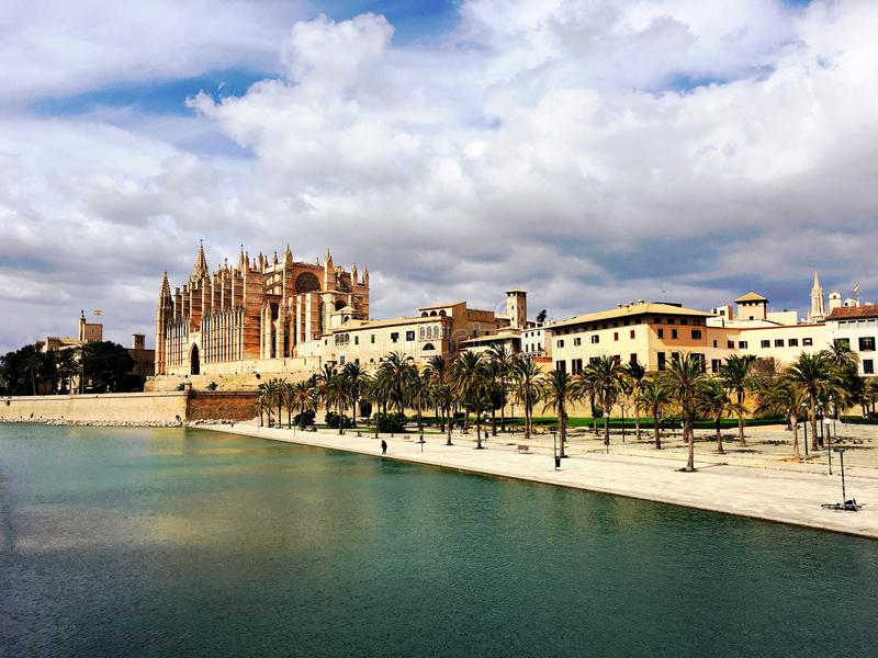 Kathedraal in Palma de Mallorca stock afbeelding