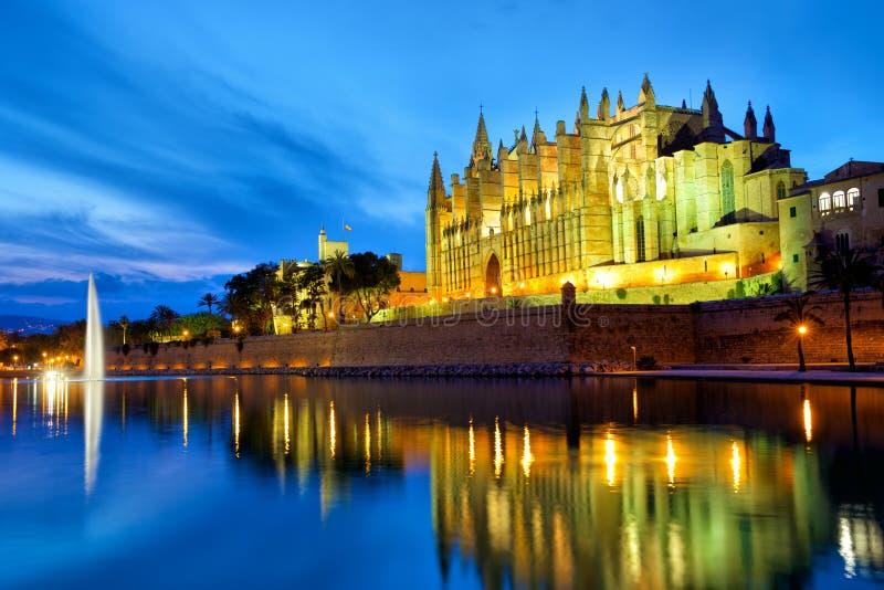 Kathedraal in Palma de Mallorca stock foto