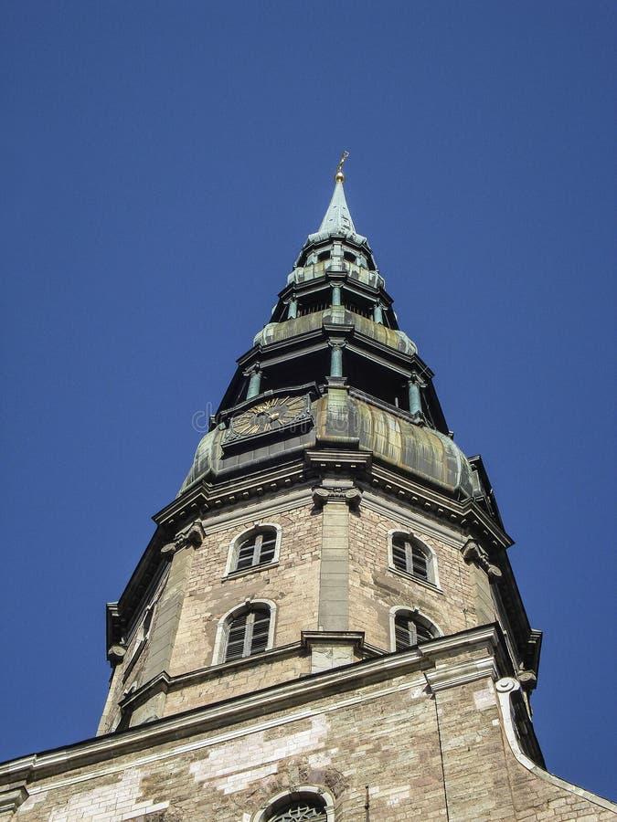 Kathedraal Peter Riga Latvia stock foto