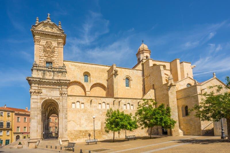 Kathedraal San Nicola in Sassari stock foto's