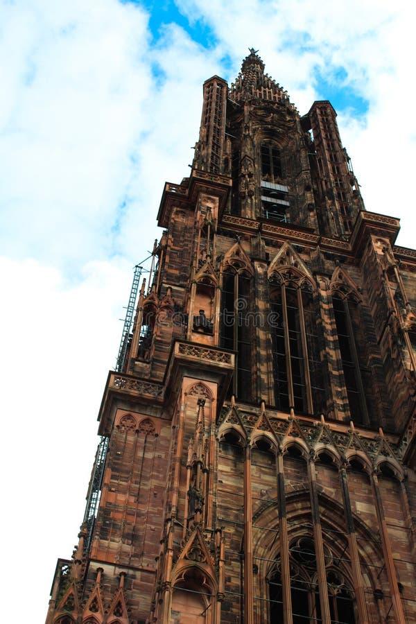 Kathedraal in Straatsburg, Frankrijk stock fotografie
