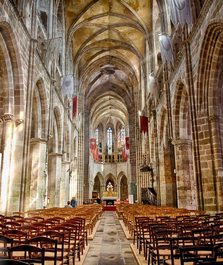 Kathedraal: Tréguier, Bretagne royalty-vrije stock foto