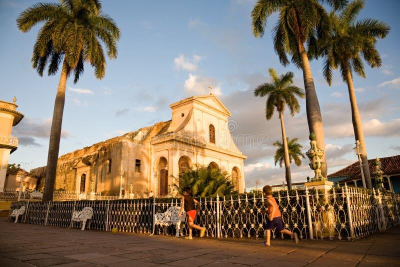 Kathedraal, Trinidad, Cuba royalty-vrije stock foto