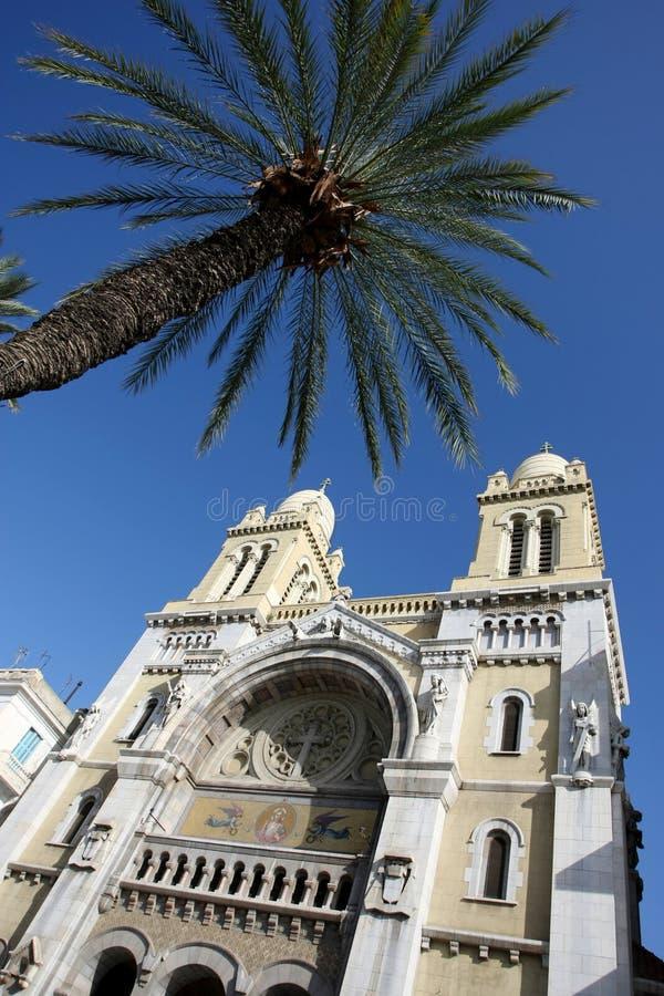 Kathedraal in Tunis royalty-vrije stock afbeeldingen