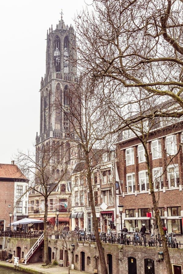 Kathedraal in Utrecht in Nederland royalty-vrije stock afbeeldingen