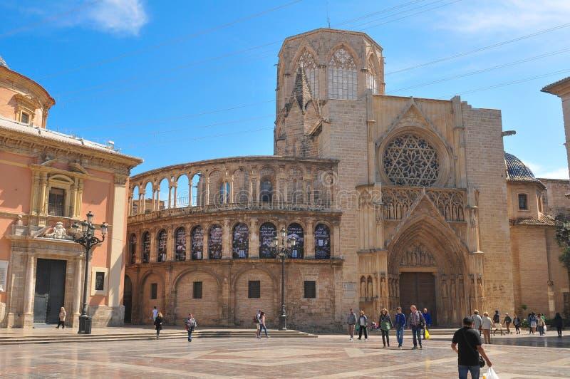 Kathedraal in Valencia, Spanje royalty-vrije stock foto