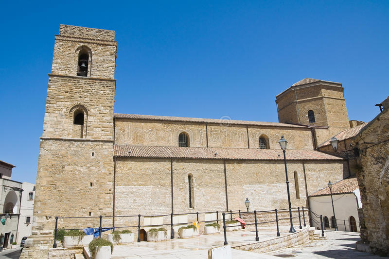 Kathedraal van Acerenza Basilicata Italië stock foto