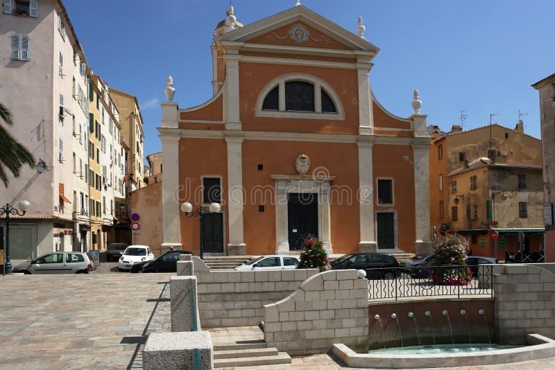 Kathedraal van Ajaccio royalty-vrije stock foto