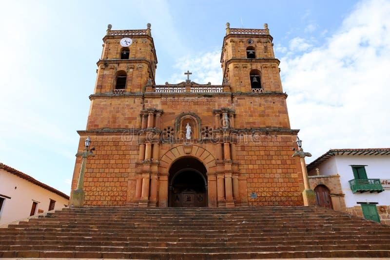 Kathedraal van Barichara Santander in Colombia, Zuid-Amerika royalty-vrije stock fotografie