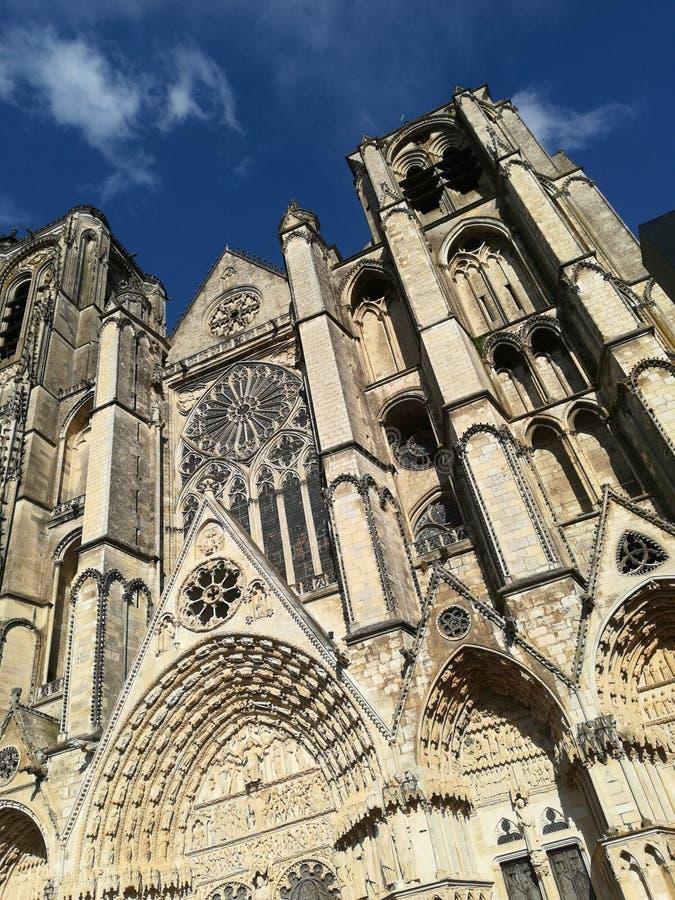 Kathedraal van Bourges, Frankrijk stock fotografie
