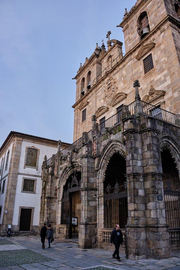 Kathedraal van Braga, Portugal royalty-vrije stock foto's