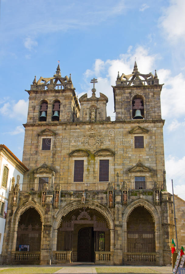 Kathedraal van Braga, Portugal stock afbeelding