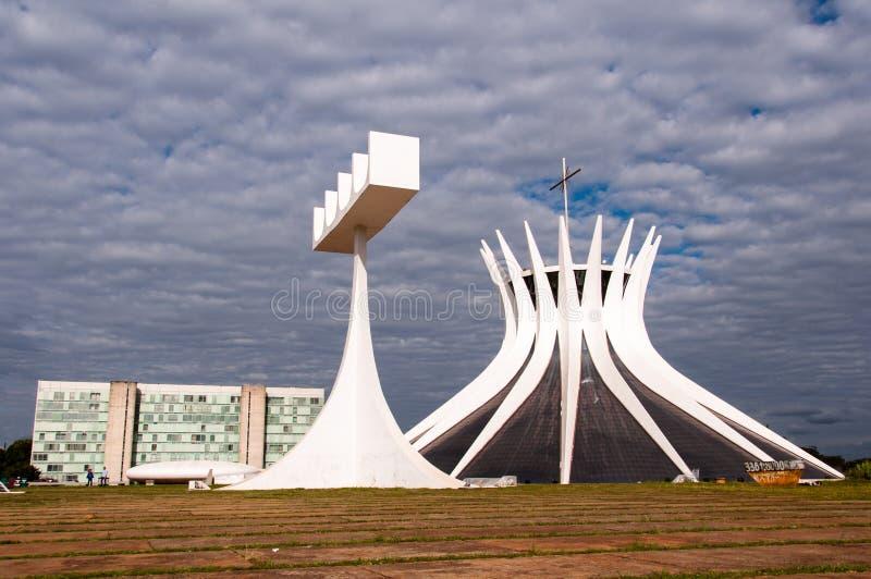 Kathedraal van brasilia royalty-vrije stock foto's
