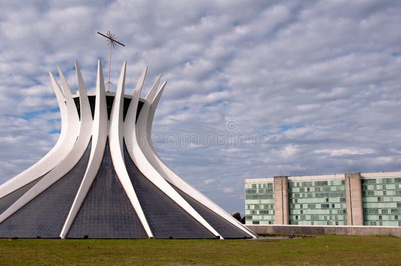 Kathedraal van brasilia royalty-vrije stock afbeeldingen