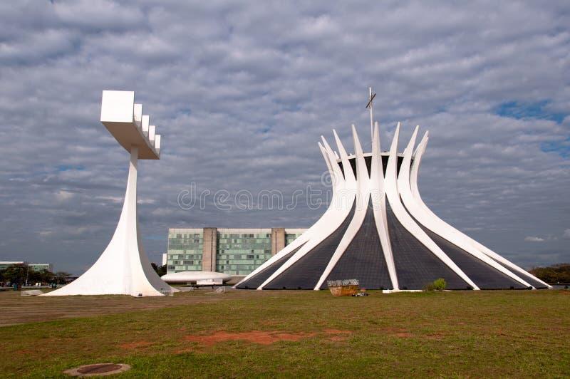Kathedraal van brasilia stock foto