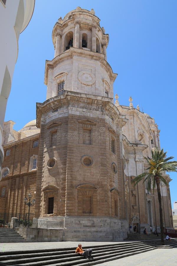 Kathedraal van Cadiz, Spanje royalty-vrije stock foto's