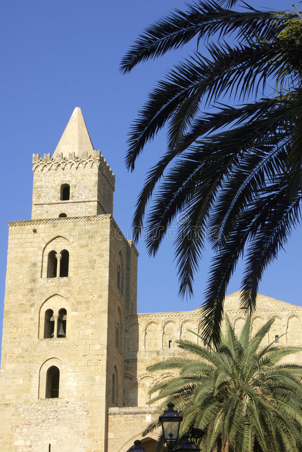 Kathedraal van Cefalu royalty-vrije stock afbeelding