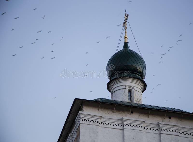 Kathedraal van Christus de redder in Irkoetsk, Russische federatie stock afbeelding
