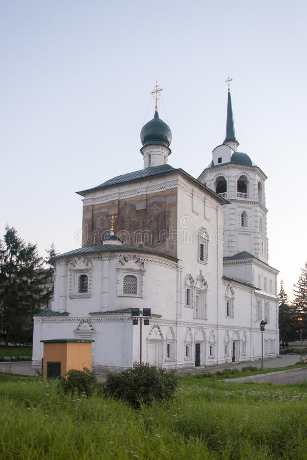 Kathedraal van Christus de redder in Irkoetsk, Russische federatie royalty-vrije stock foto