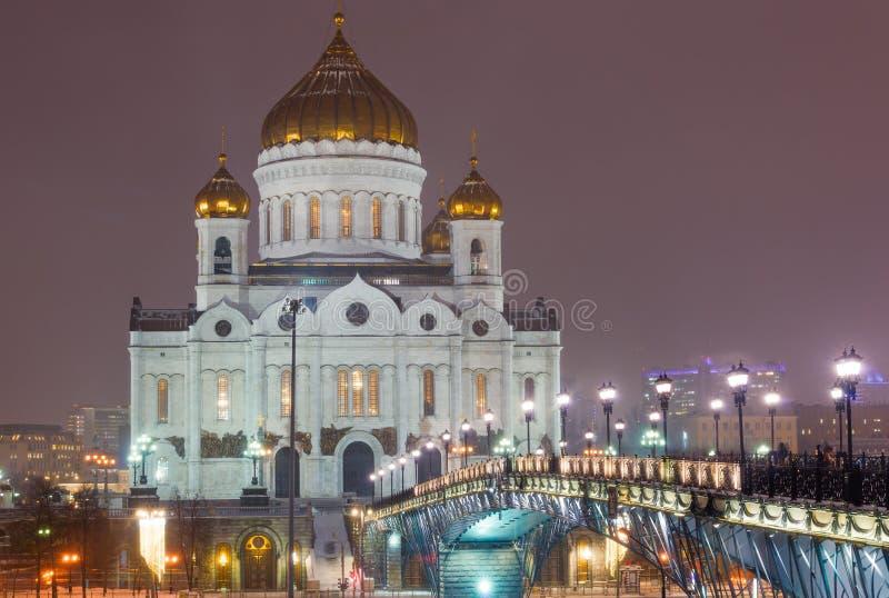 Kathedraal van Christus de redder moskou Rusland stock foto