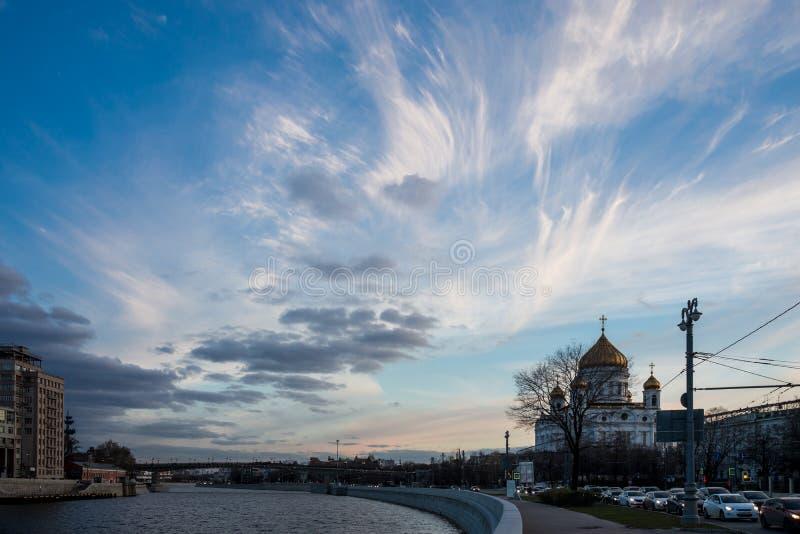 Kathedraal van Christus de Redder Rusland, Moskou stock afbeelding