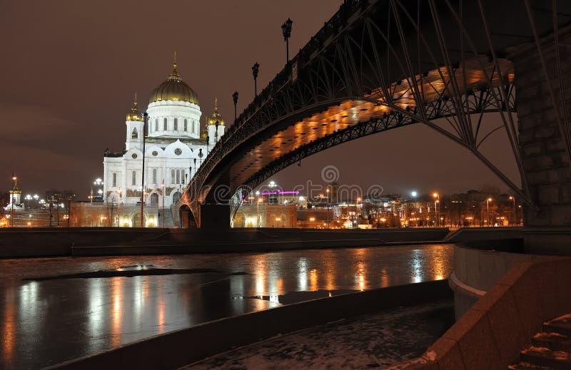 Kathedraal van Christus de Verlosser in Moskou royalty-vrije stock fotografie