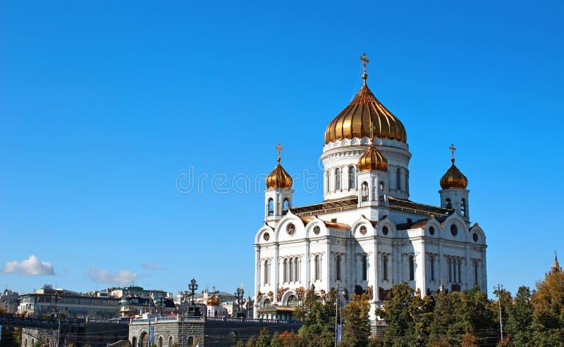 Kathedraal van Christus de Verlosser in Moskou stock afbeeldingen
