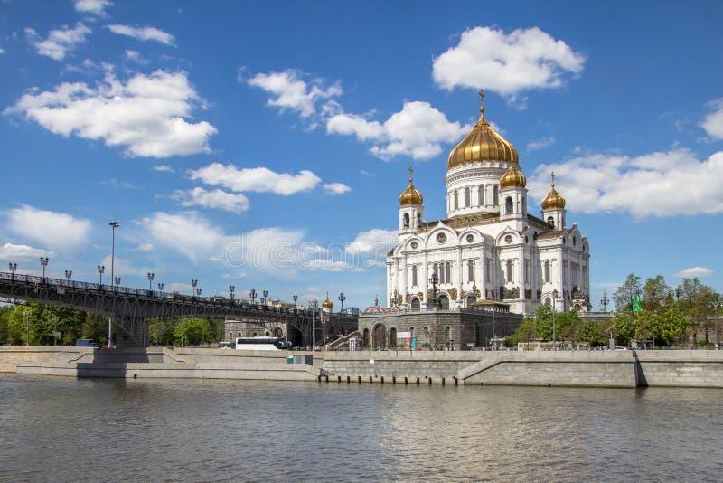 Kathedraal van Christus de Verlosser in Moskou, Rusland royalty-vrije stock afbeeldingen