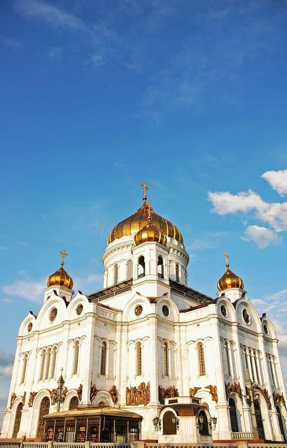 Kathedraal van Christus de Verlosser in Moskou, Rusland stock afbeeldingen