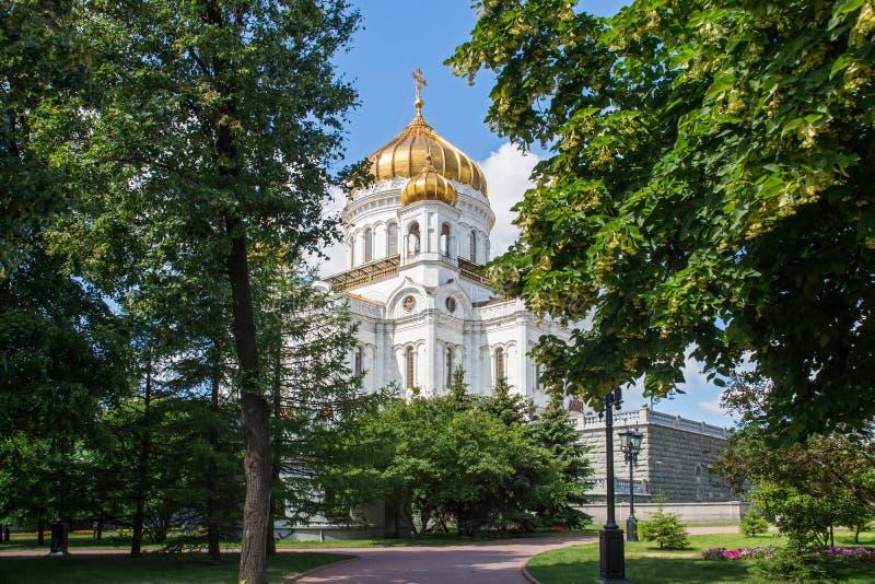 Kathedraal van Christus de Verlosser, Moskou, Rusland royalty-vrije stock afbeeldingen