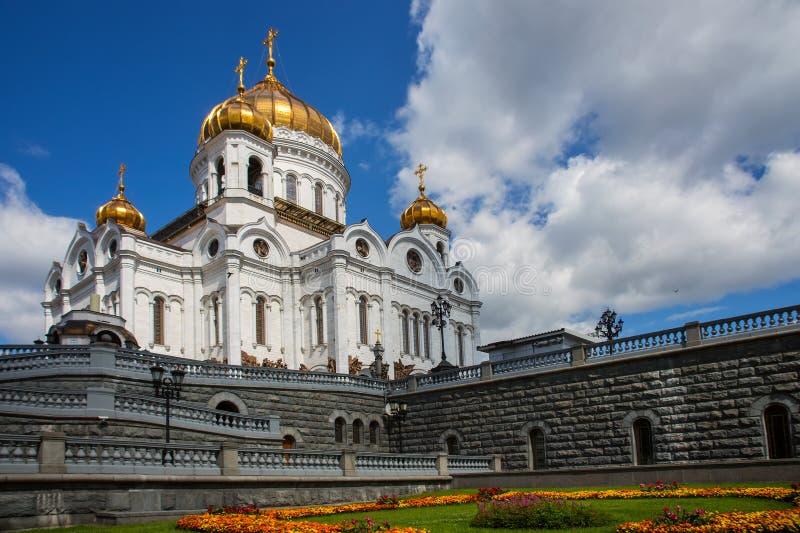 Kathedraal van Christus de Verlosser, Moskou, Rusland royalty-vrije stock foto