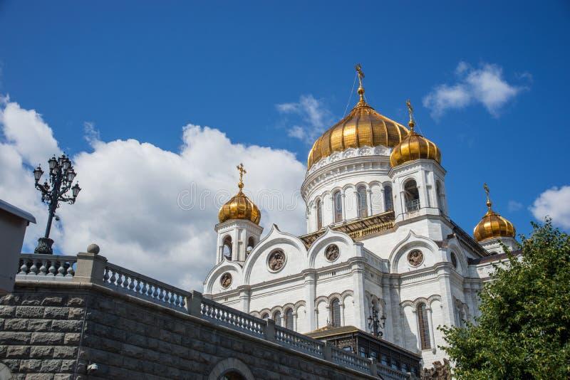 Kathedraal van Christus de Verlosser, Moskou, Rusland stock fotografie