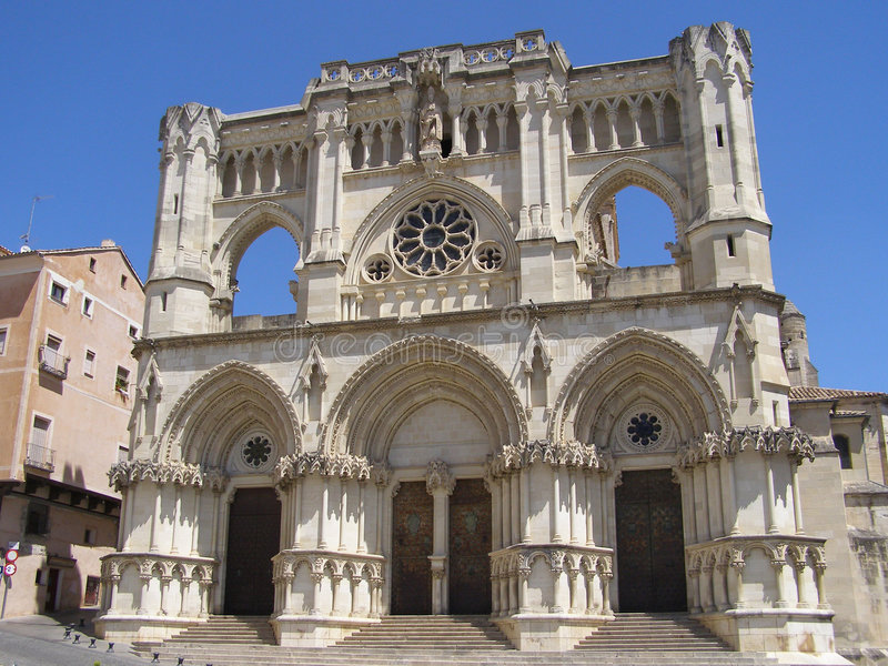 Kathedraal van Cuenca stock foto