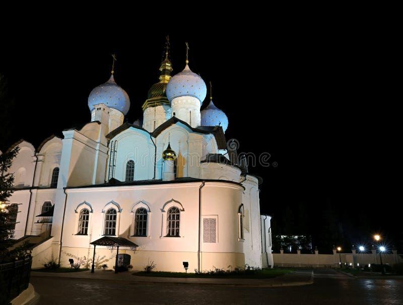 Kathedraal van de Aankondiging in Kazan het Kremlin royalty-vrije stock foto's