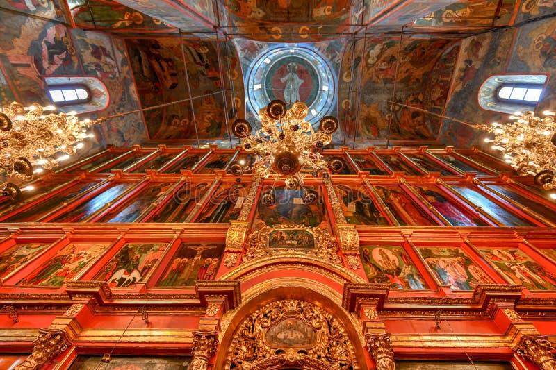 Kathedraal van de Aankondiging - Moskou, Rusland stock foto's