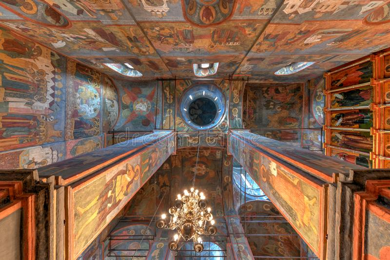 Kathedraal van de Aankondiging - Moskou, Rusland stock foto