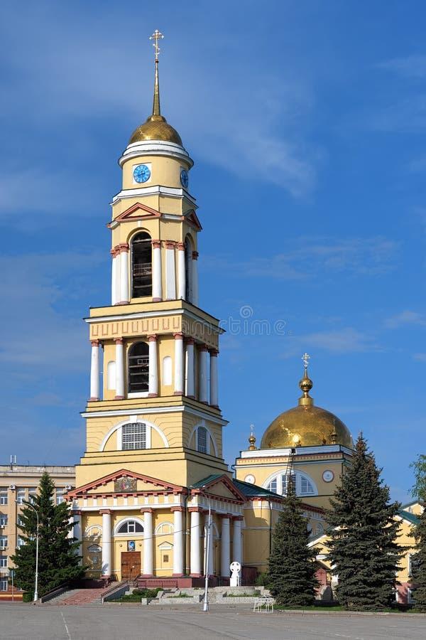 Kathedraal van de Geboorte van Christus in Lipetsk, Rusland royalty-vrije stock foto