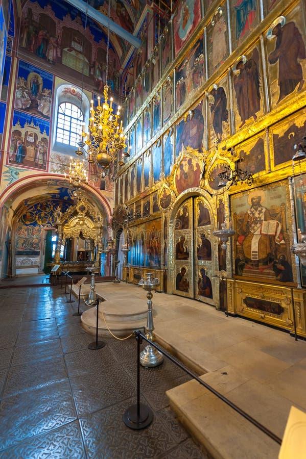 Kathedraal van de Geboorte van Christus in Suzdal stock foto's