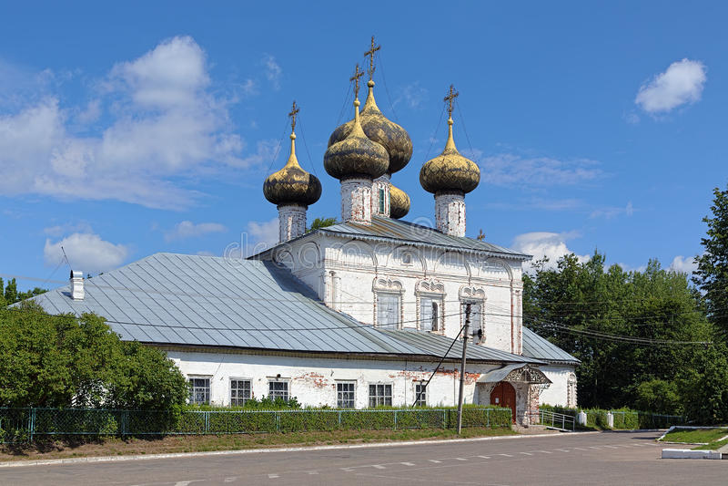 Kathedraal van de Geboorte van Christus van de Moeder van God in Ustyuzhna, Rus stock foto
