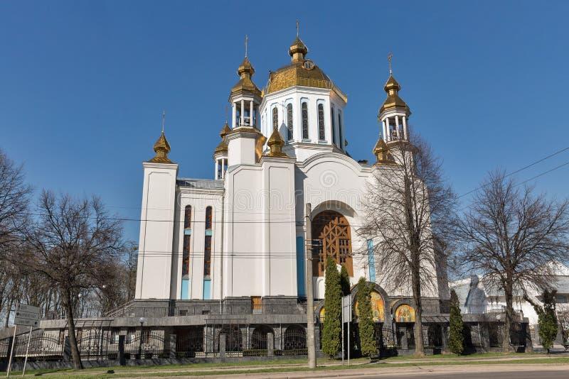 Kathedraal van de Interventie in Rovno, de Oekraïne royalty-vrije stock fotografie