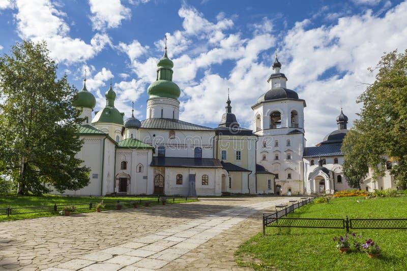 Kathedraal van de Veronderstelling met een klokketoren royalty-vrije stock afbeelding