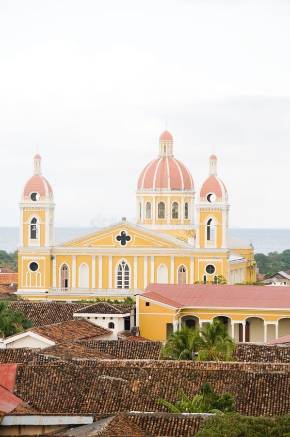 Kathedraal van Granada Nicaragua stock foto's