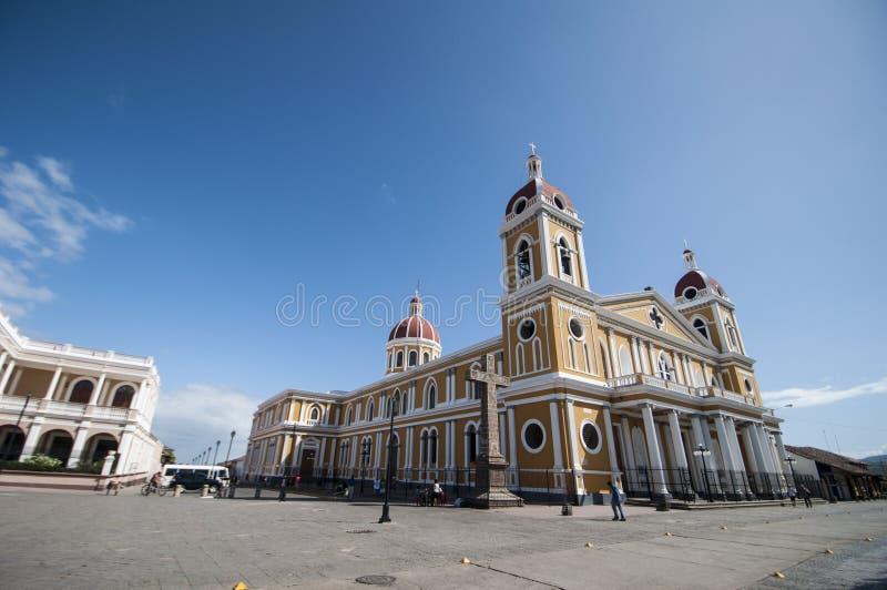 Kathedraal van Granada, Nicaragua royalty-vrije stock fotografie