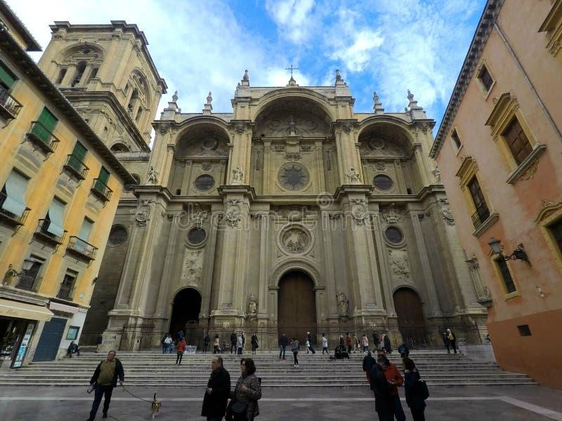 Kathedraal van Granada, Spanje royalty-vrije stock afbeeldingen
